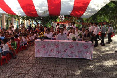Trường TH Vĩnh Phong 1 tổ chức khánh thành Thư viện thân thiện